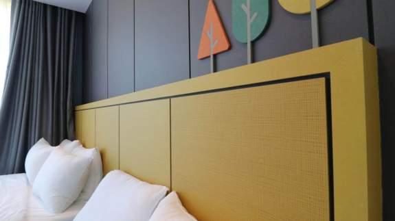 kollane mdf plaadist voodi