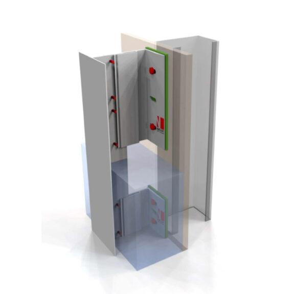 Vertikaalne fassaadikinnitus süsteem NV1